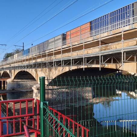 Pont de l'Huisne : un chantier qui va bon train !