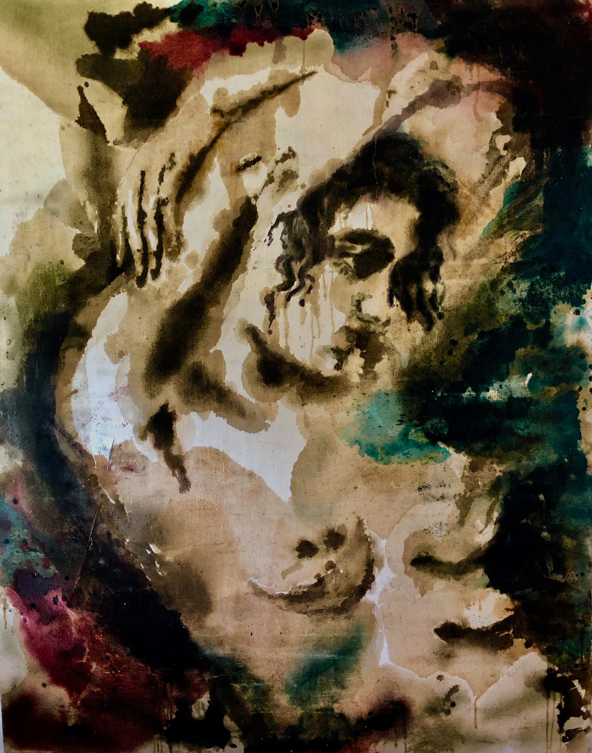 La Femme a La Vague, oil on canvas, 83x56,$6000