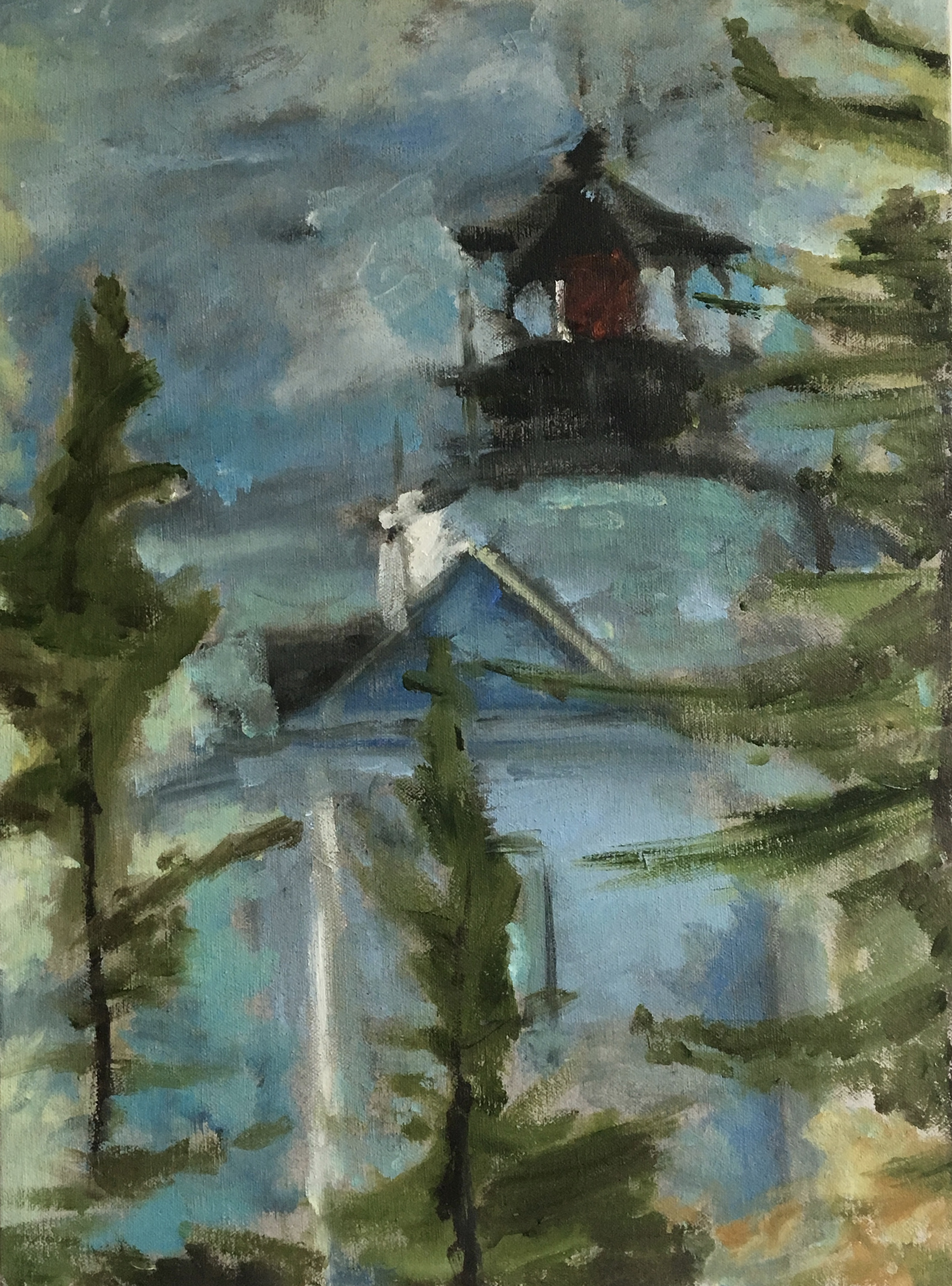 "Spruce Head Light, 18"" x 14"", Private Collection, Port Clyde, Maine"
