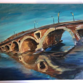 """Le Pont Neuf, 18""""x21"""", oil on canvas, $300"""