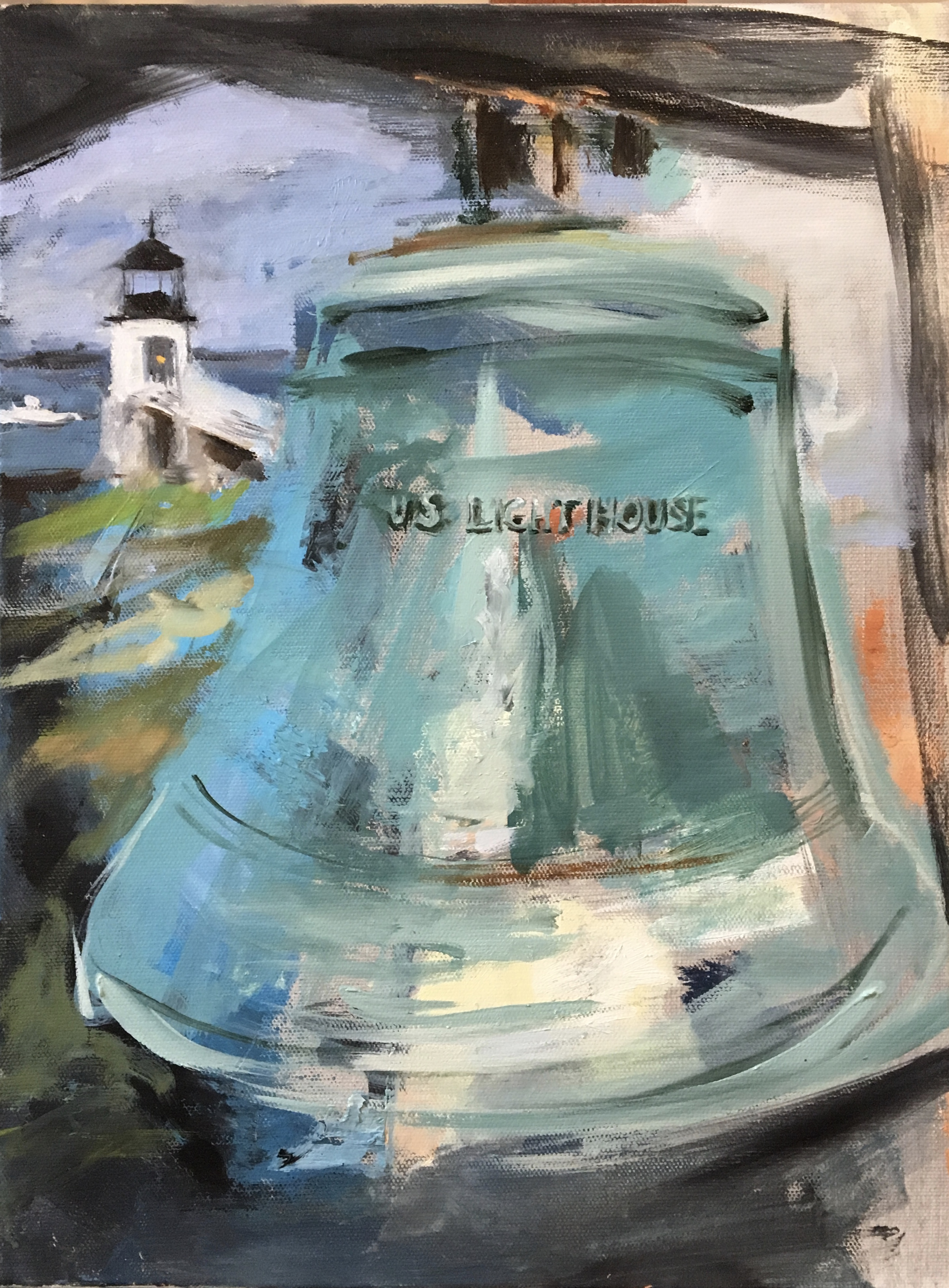 "Marshall Pt., U.S. Lighthouse,16""x12"", Private Collection, Massachusetts"