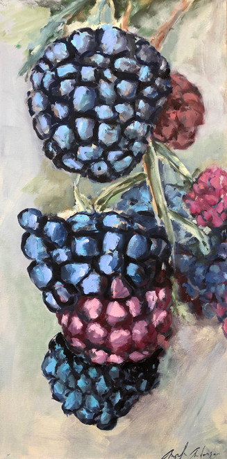 Blackberries in the Fog, 24 x 12 $295