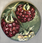 "Raspberries on a vine, 12 "" diameter, $2"