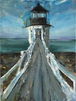 Marshall Pt., Light Blues, oil on canvas, 16x12, $299