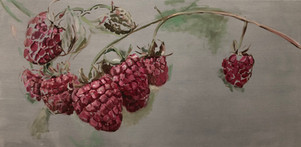 Raspberry Grisaille 24 x 48, $695