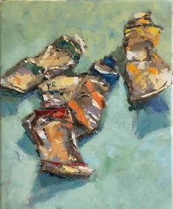 Paint Tubes, oil on canvas, 10x8, $199