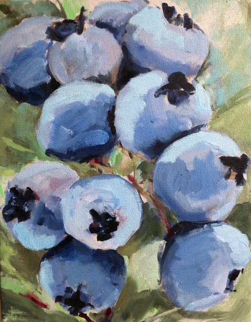 Blueberry Branch, 14x11, $295