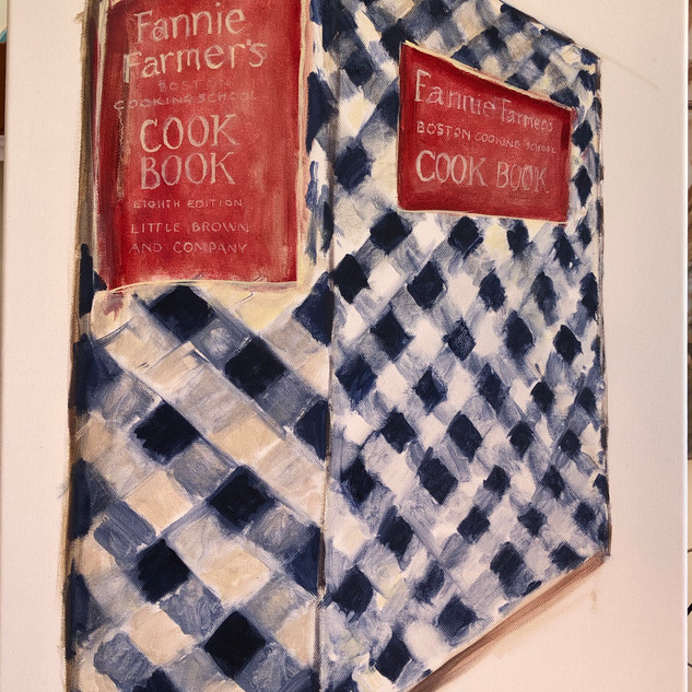 Fanny Farmer's Cookbook, oil on canvas,
