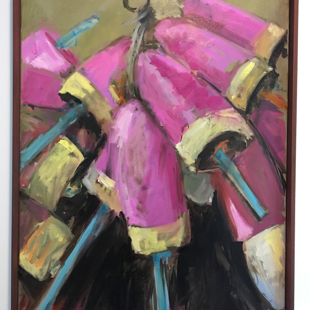 """PINK, 20""""x16"""",Private Collection"""