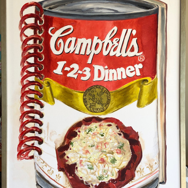 Campbells Vintage Book, oil on canvas, 4