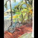 Thomas St., Key West, oil on canvas 10x8