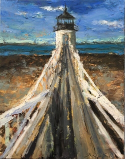 Marshall Pt., Ramp Walkway, oil on canvas, 16x12, $279