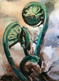 Teal Fiddleheads, 48 x 36, $795