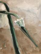 Garden Scape, oil on linen, 7x5, $125