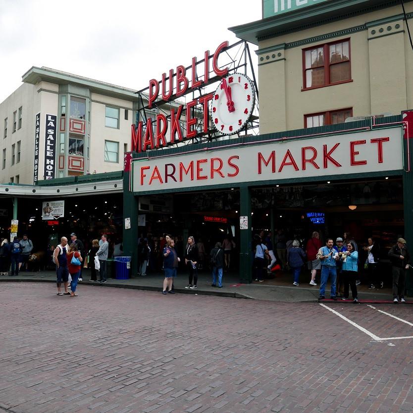 Public Market, Pikes market, Seattle, Seattle downtown, Seattle, Washington, Market, Farmers Market