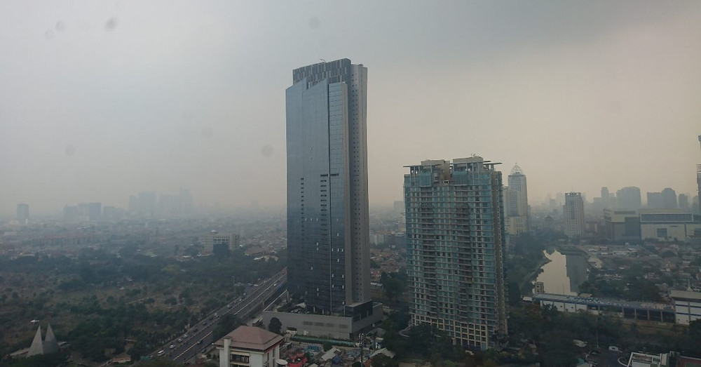 air pollution in Jakarta, July 2019
