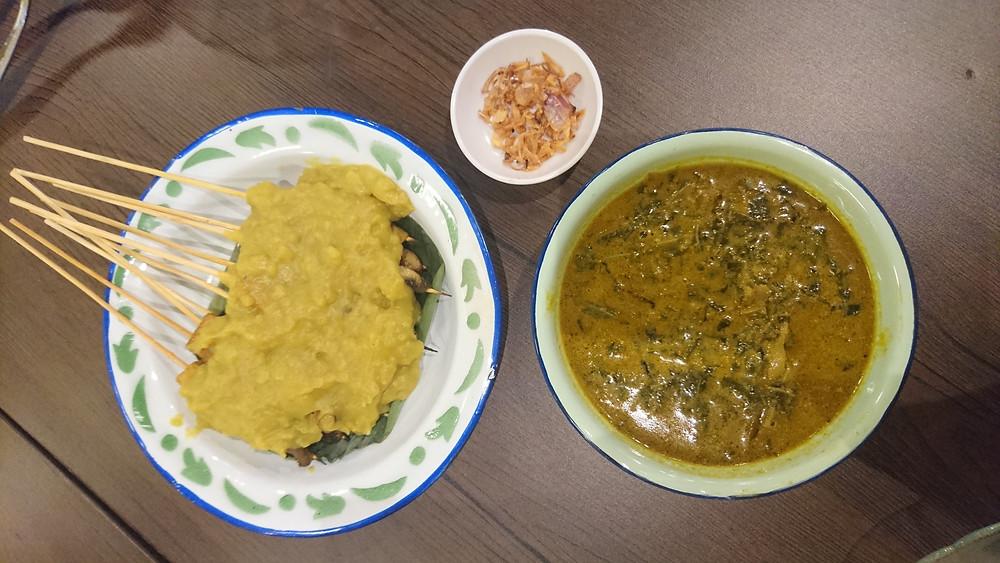 Vegan sate padang di Loka Padang