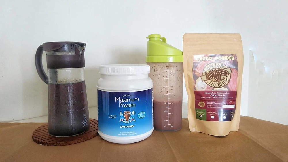 Powerful breakfast protein shake