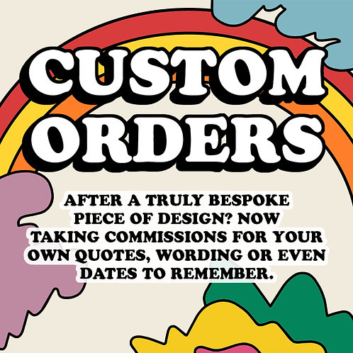 Custom Typography/Illustration