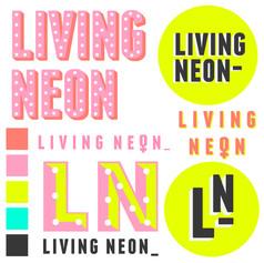 Living Neon Logo Ideas Page and Colour Scheme