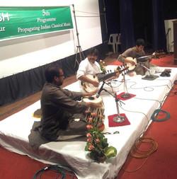 Performing with Guruji