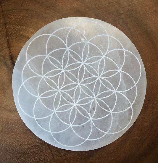 Selenite Grid Template - Flower of Life