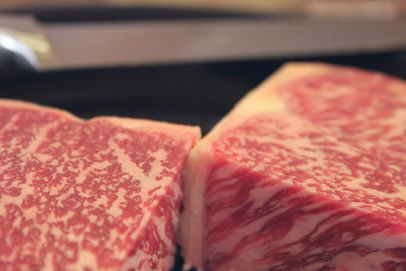 wagyu strip steak high marbling