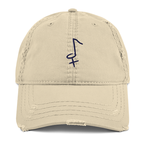 Distressed Bloi Note Dad Hat