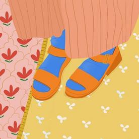 Little orange sandals