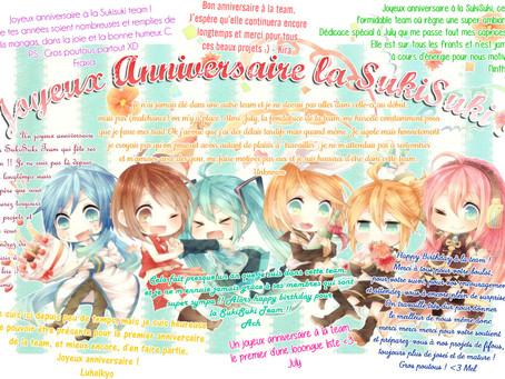 Happy Birthday la SukiSuki Team !