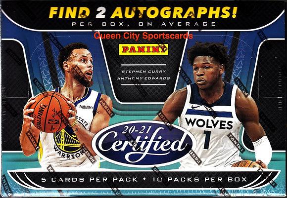 2020/21 Panini Certified Basketball Hobby Box