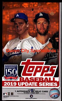 2019 Topps Update Baseball Hobby Box