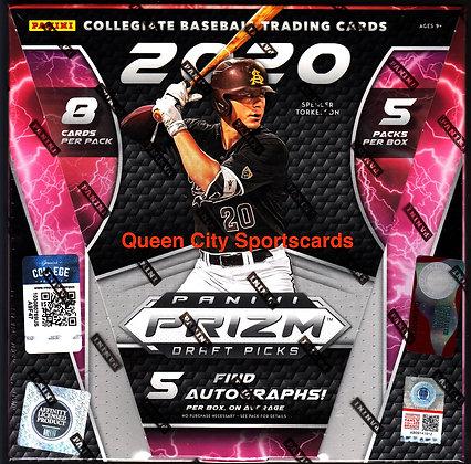 2020 Panini Prizm Collegiate Draft Picks Baseball Hobby Box