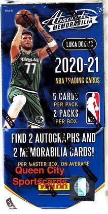2020/21 Panini Absolute Memorabilia Basketball Hobby Box