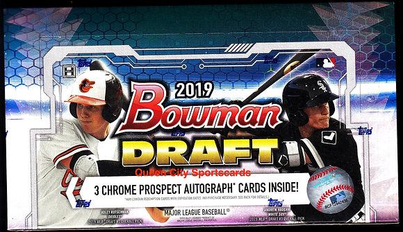 2019 Bowman Draft Baseball Jumbo Box