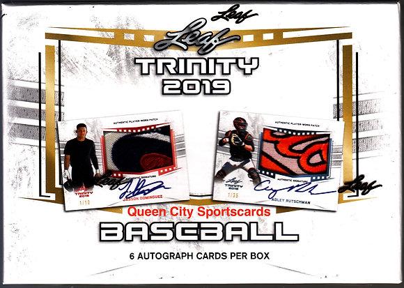 2019 Leaf Trinity Baseball Hobby Box