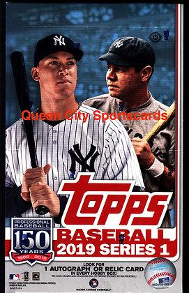 2019 Topps Series 1 Baseball Hobby Box