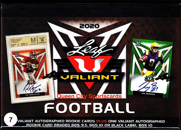 2020 Leaf Valiant Football Jumbo Box