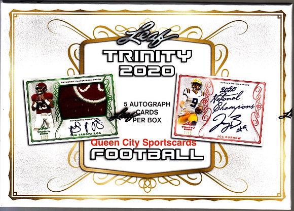 2020 Leaf Trinity Football Hobby Box