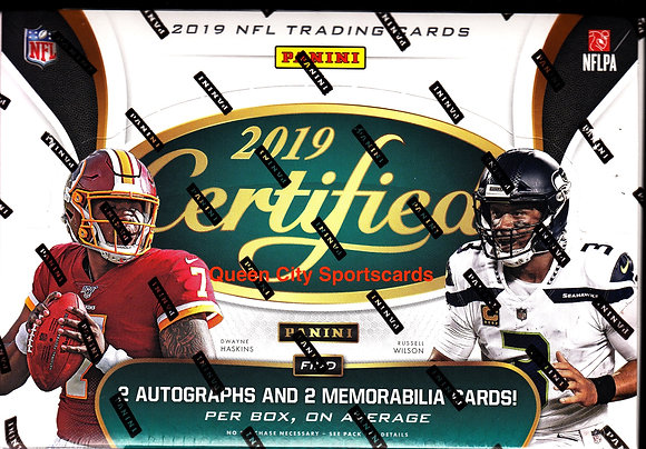 2019 Panini Certified Football Hobby Box