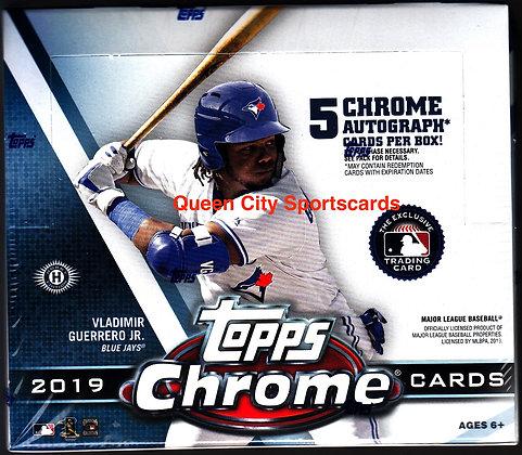2019 Topps Chrome Baseball Jumbo Box