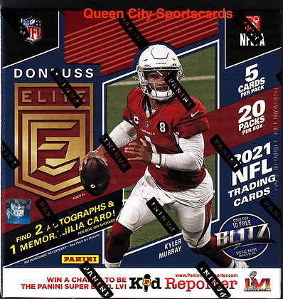 2021 Panini Donruss Elite Football Hobby Box