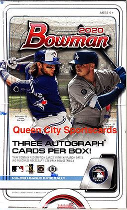 2020 Bowman Baseball Jumbo Box