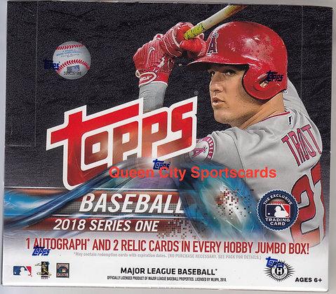 2018 Topps Series 1 Baseball Jumbo Box
