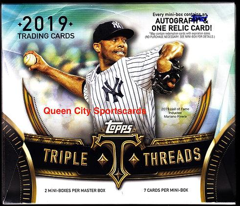 2019 Topps Triple Threads Baseball Hobby Box