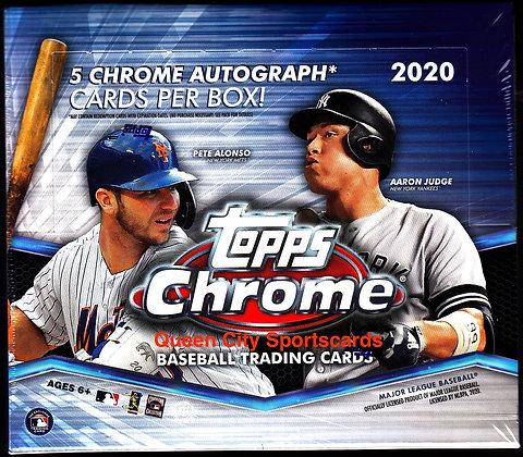 2020 Topps Chrome Baseball Jumbo Box