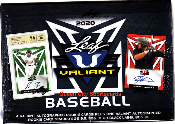2020 Leaf Valiant Baseball Hobby Box