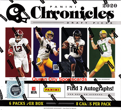 2020 Panini Chronicles Draft Picks College Football Hobby Box