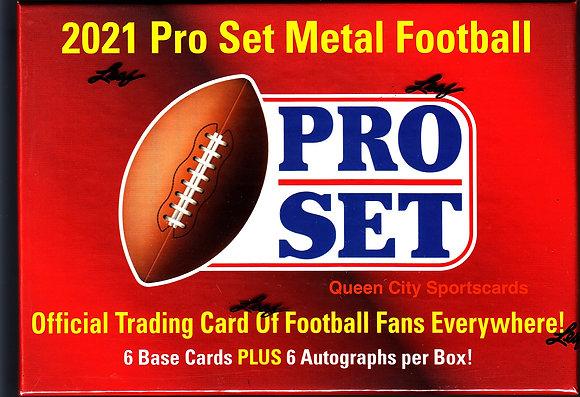 2021 Pro Set Metal Football Hobby Box
