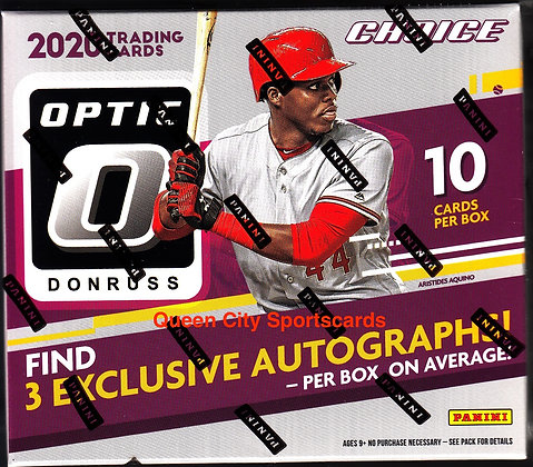 2020 Panini Donruss Optic Choice Baseball Box